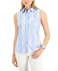 Cotton Cooper Check Sleeveless Shirt