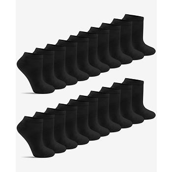 20-Pack Warner's Women's Light & Easy Flat-Knit Low-Cut Socks