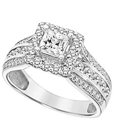 Diamond (1 1/2 ct. t.w.) Engagement Ring in 14K White Gold