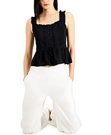 INC Cotton Lace Camisole, Created for Macy's