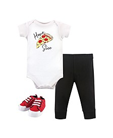 Baby Girls and Boys Bodysuit, Pant and Shoe Set