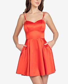 Juniors' Sweetheart-Neck Dress