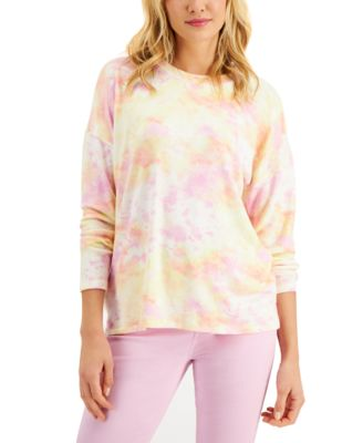 Tie-Dyed Crewneck Top, Created for Macy's