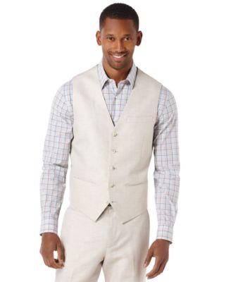 Big and Tall Herringbone Vest
