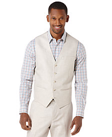 Perry Ellis Big and Tall Herringbone Vest