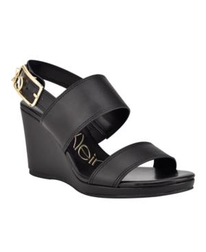 Calvin Klein High heels WOMEN'S BELLE WEDGE SANDALS WOMEN'S SHOES