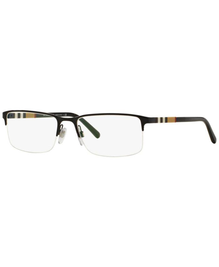 Burberry BE1282 Men's Rectangle Eyeglasses & Reviews - Home - Macy's