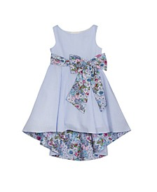 Toddler Girls Printed Seersucker Dress