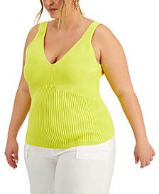 Plus Size Ribbed Tank Top, Created for Macy's