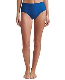 Seamed High-Waist Bikini Bottoms