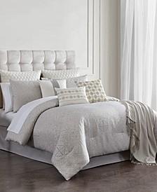 Fizora 14-Pc. Mosaic Jacquard Queen Comforter Set