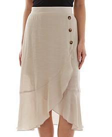 Juniors' Asymmetrical Ruffle Skirt