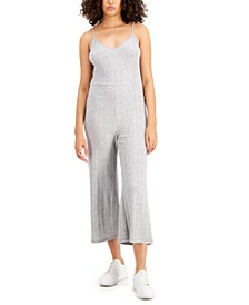 Ribbed Cropped Jumpsuit, Created for Macy's