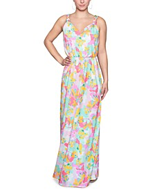 Knotted-Strap Maxi Dress