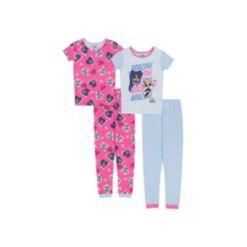 Lol Surpise! Big Girls 4 Piece Cotton Pajama Set