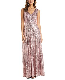 Plus Size Embellished Fit & Flare Gown