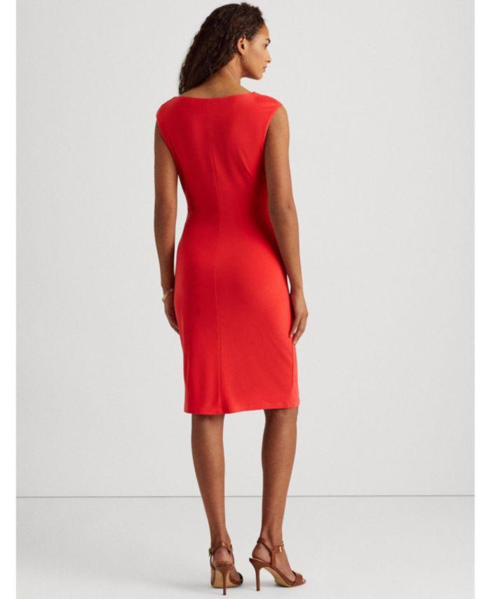 Lauren Ralph Lauren Petite Jersey Cowlneck Dress & Reviews - Dresses - Petites - Macy's