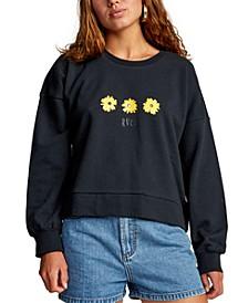 Juniors' Cotton Graphic-Print Sweatshirt