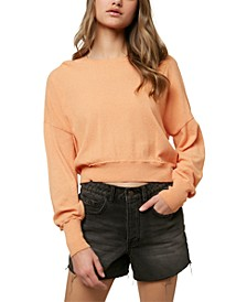 Juniors' Shoreward Drop-Shoulder Sweater