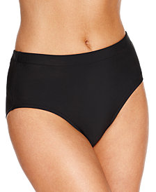 Swim Solutions High-Waist Bikini Bottoms, Created for Macy's