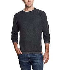 Men's Stonewashed Raglan Sleeve Honeycomb Sweater