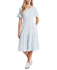 Printed Ruffled Dress