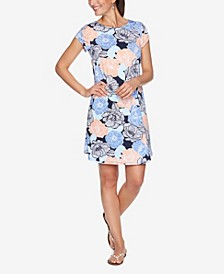 Plus Size DRS Puff Poppy Short Sleeve Dress