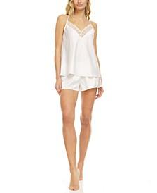Kit Heart Lace Cami & Tap Shorts Pajama Set