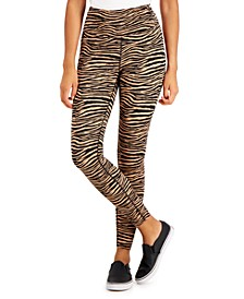 Tiger-Print Compression Leggings, Created for Macy's