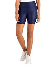 Shiny Compression Bike Shorts, Created for Macy's