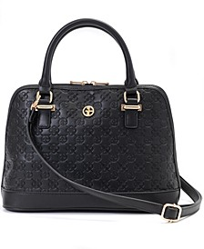 Debossed Signature Dome Satchel, Created for Macy's