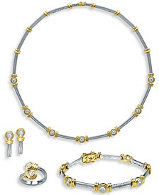 Diamond Bezel Two-Tone Jewelry Collection in 14k Gold & White Gold
