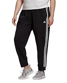 Essentials Plus Size 3-Stripe Tapered Pants