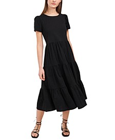 Lacey Tiered Puff-Sleeve Dress, Created for Macy's