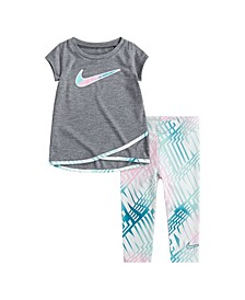 Baby Girls 2-Piece Match Back Top and Legging Set