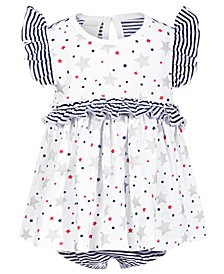 Baby Girls Stripes & Stars Cotton Sunsuit, Created for Macy's