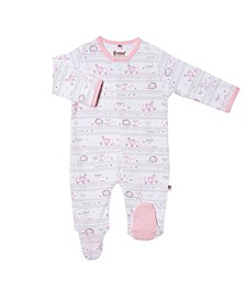 Baby Girl Catch A Star Magnetic Footie One Piece