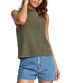Sara Sleeveless Mock-Neck Sweater