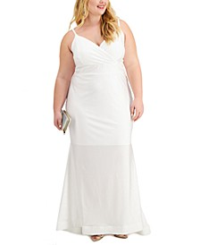 Trendy Plus Size Trumpet-Skirt Gown