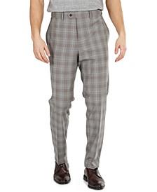 Men's Slim-Fit Plaid Suit Pants