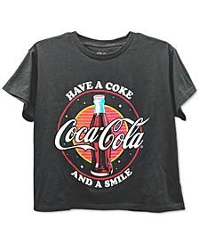 Juniors' Coca-Cola Rainbow Graphic T-Shirt