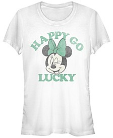 Juniors Disney Mickey Classic Lucky Minnie Cowl Neck T-shirt