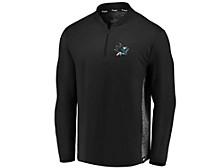 San Jose Sharks Men's Iconic Transit Quarter-Zip Pullover