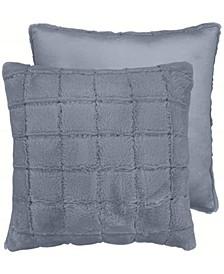 """Tile Cut Fur Dec Pillow,  20""""X20"""""""