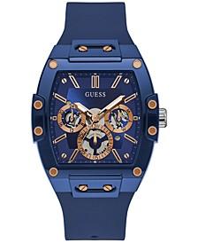Men's Blue Silicone Strap Watch 43mm