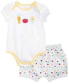 Baby Boys & Girls Veggie Bodysuit & Shorts Separates, Created for Macy's