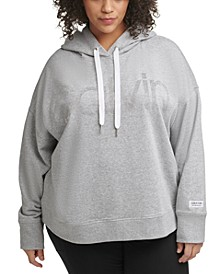 PerformancePlus Size Embellished Logo Hooded Sweatshirt