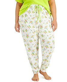 Plus Size Printed Jogger Pants, Created for Macy's