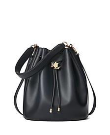 Andie Large Leather Drawstring Bag