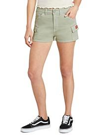Juniors' High-Rise Cargo Shorts